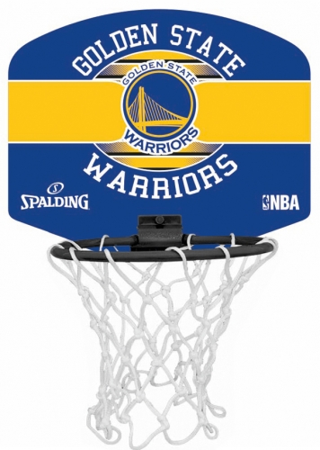 Spalding Mini Basketballkorb Set NBA Golden State Warriors
