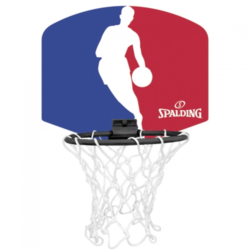 Spalding Mini Basketballkorb Set NBA Logoman