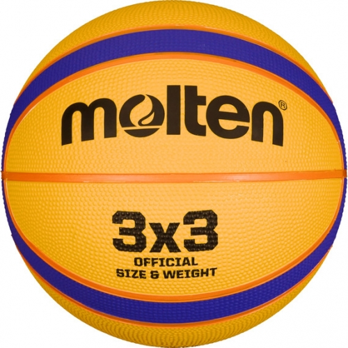 Molten Basketball 3x3 Gelb/Blau/Orange Gr. 6